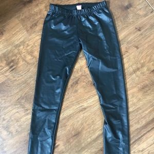 Pants - NEW leather leggings size small